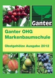 Ganter Baumschule Wyhl Katalog 2012 - Klaus Ganter KG