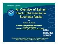 An Overview of Salmon Stock Enhancement in Southeast Alaska