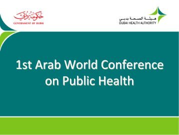1st Arab World Conference on Public Health - World Federation of ...