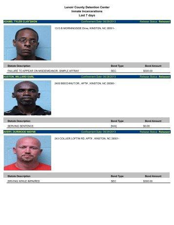Updated Lenoir County mugshots