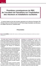 Premières conséquences du retour d'expérience Fukushima ... - Sfen