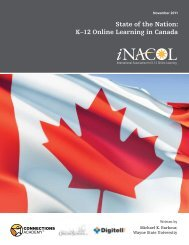 State of the Nation: K–12 Online Learning in Canada - iNACOL