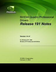Release 191 Notes - Nvidia's Download site!!