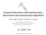 Compact Polarimetric SAR Interferometry - ESA