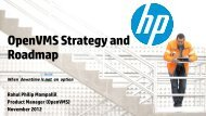 OpenVMS Strategy and Roadmap - Woertman