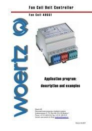 Fan Coil Unit Controller Application program - Woertz Carolina Inc.