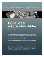 tv @ globe / MEDIA LANDSCAPES IN THE DIGITAL AGE - MonitoR