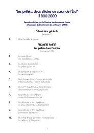 Les préfets, deux siècles au coeur de l'Etat.pdf - Archives ...