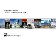 Formalin und Formalinderivate - Pörner Group