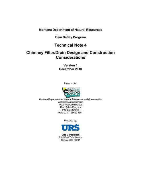 Technical Note 4 Chimney Filter/Drain Design and Construction ...