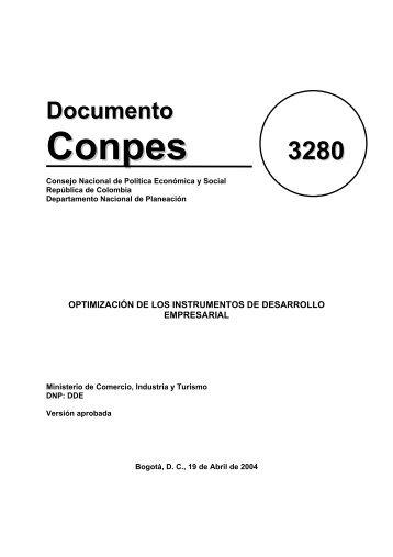 Documento CONPES 3280 Desarrollo Empresarial - sinic