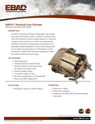 MPLC® Tactical Line Charge - Ensign-Bickford Aerospace ...