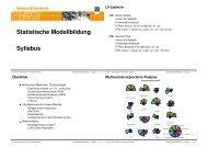Statistische Modellbildung Syllabus - Institute for Statistics and ...