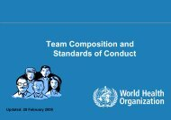 Rapid Response: Team Composition and Standards of Conduct