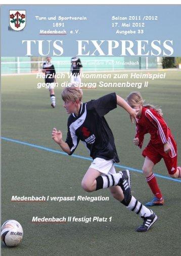 Download TuS Express 33 - TuS Medenbach