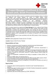 Project Manager Livelihood & Cash Grant (m/f), Sindh ... - Venro