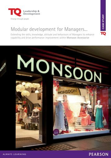 Modular development for Managers... - TQ Education and Training