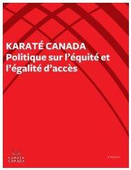 afin d'accéder à ce document important - Karate Canada
