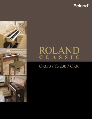 to download the Roland Classic Series brochure pdf ... - Chapel Music
