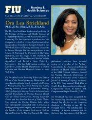 Ora Lea Strickland - CNHS - Florida International University