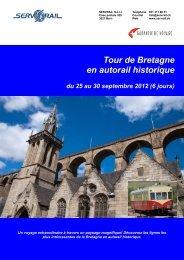 Tour de Bretagne en autorail historique du 25 au 30 ... - SERVRail
