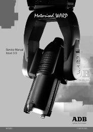 warp/m service manual - ADB Lighting Technologies