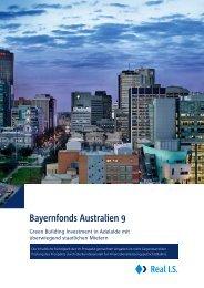 Bayernfonds Australien 9 Verkaufsprospekt - Real IS