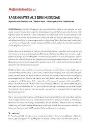 SAGENHAFTES AUS DEM HUOSIGAU - Die Ausstellung - Huosi