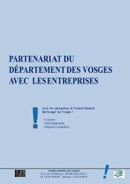partenariat du département des vosges avec les entreprises