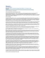 Moody's Release on Volkswagen Bank GmbH