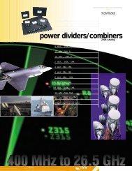 power dividers/combiners - Renaissance Electronics Corporation