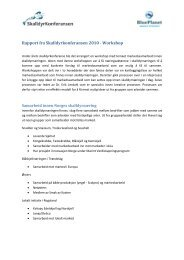 Rapport fra Skalldyrkonferansen 2010 - Workshop - BluePlanet AS
