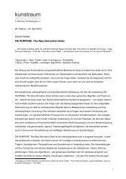 Weiterführender Text zur Ausstellung als PDF - kunstraum ...