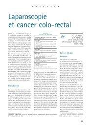 Laparoscopie et cancer colo-rectal