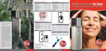 Rheem Heat Pump Hot Water - Plumbers Wellington