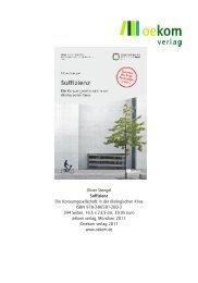 Oliver Stengel Suffizienz Die Konsumgesellschaft in ... - Buecher.de