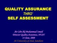 self assessment - National University of Science and Technology