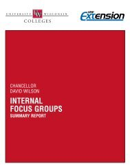 Internal Listening Sessions Summary Report - University of ...