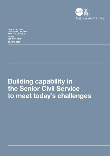Building capability in the Senior Civil Service to meet today's ...