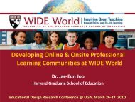 Developing Online & Onsite Professional Learning Communities at ...