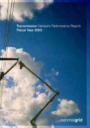Transmission Network Performance Report 2005 - National Grid