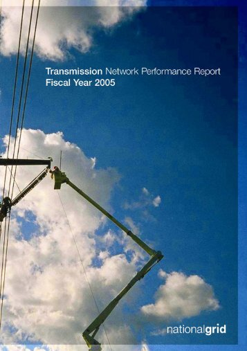 Transmission Network Performance Report 2005 - National Grid