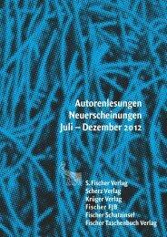 Autorenlesungen Neuerscheinungen Juli ... - S. Fischer Verlag
