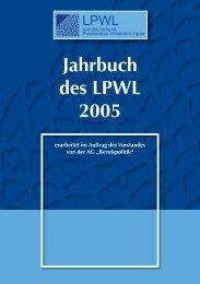Jahrbuch des LPWL 2005 - Landesverband Praxisnetze Nordrhein ...