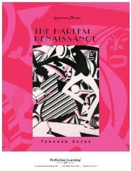 THE HarlEm rEnaissancE - Perfection Learning