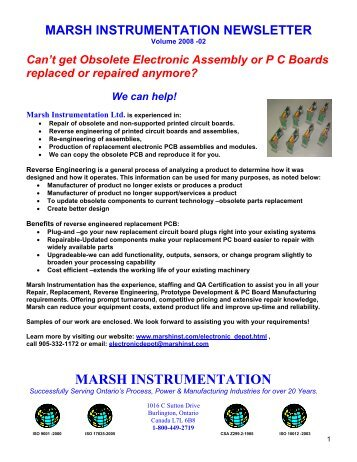 Marsh Instrumentation Ltd - Marsh Instrumentation Inc.
