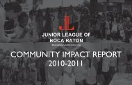 Community Impact Report - Junior League of Boca Raton
