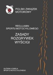 Zasady rozgrywek w Wyścigach Motocyklowych - Polski Związek ...