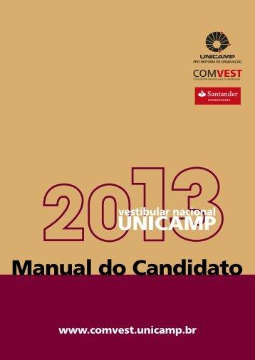 Manual do Candidato UNICAMP 2013