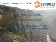 Impact environnemental des explosifs industriels en ... - Synduex
